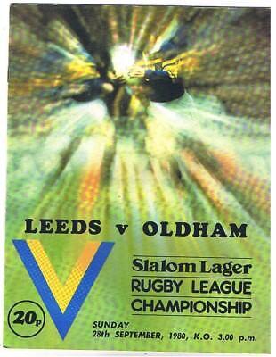 Leeds v Oldham 1980/1
