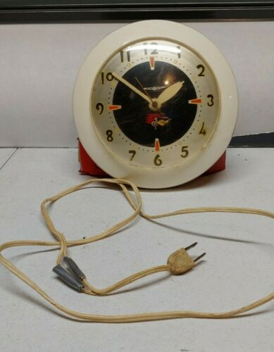 RARE VINTAGE Mr. Horsepower Clock By Sessions WORKS!! 1960