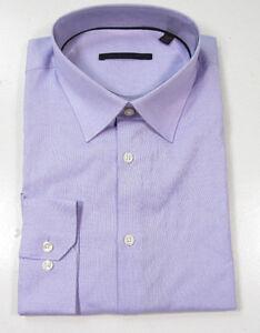 Elie tahari mens lilac micro check slim fit dress shirt for Mens lilac dress shirt