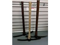 3, Wood handle pick axes for sale.