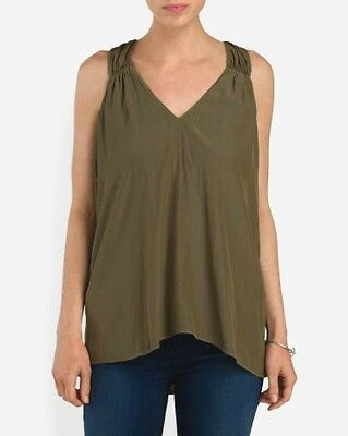 "Ramy Brook - S - NWT $295 - Military Green ""Polly"" Racerback Tunic Tank Top"