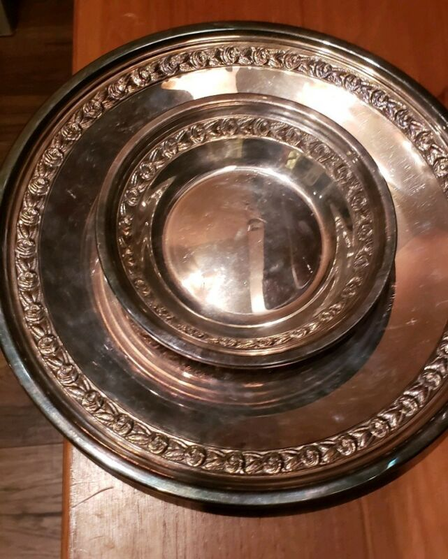 Antique Reed & Barton Silver plate Bowl #1204 Roses