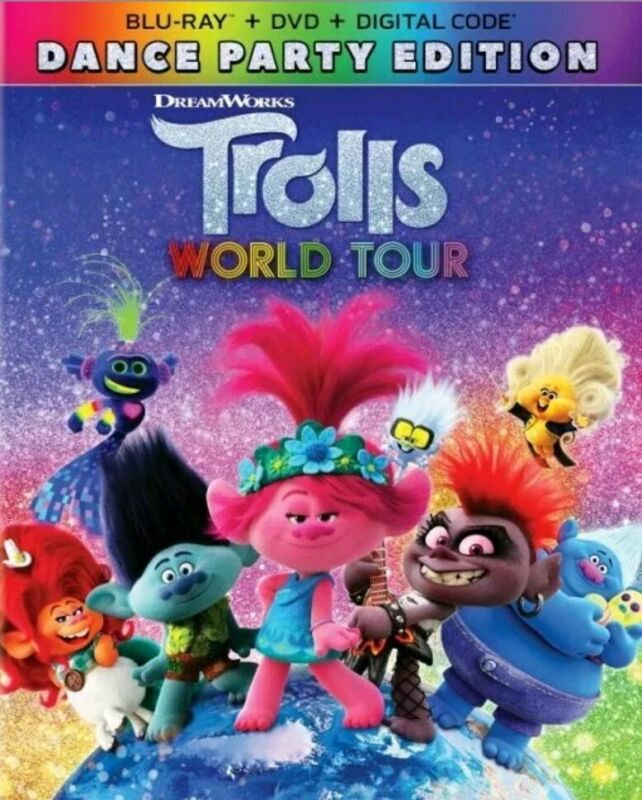 Trolls World Tour Blu-Ray (Disc Only) No Case 2020