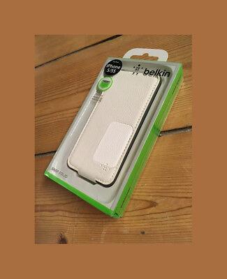 Belkin Hülle Snap Folio weiß für iPhone 5, iPhone 5s und iPhone SE Snap Folio