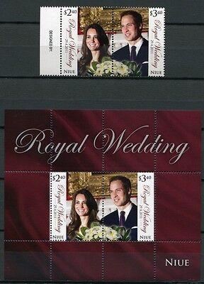 NIUE 2011 Royal Wedding Kgl. Hochzeit Prinz William & Kate Royalty ** MNH