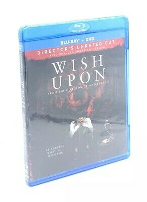 Wish Upon (Blu-ray+DVD, 2017; 2-Disc Director's Cut, Unrated) NEW](Business Halloween Wishes)