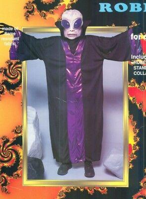 Alien Robe Purple/Black Child Costume Size Large](Kids Alien Costume)