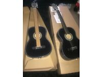 black acoustic guitar. BRAND NEW! Not used!