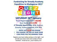 Fundraising Quiz Night -28th January 2017