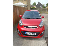 Red Kia Picanto 1.0 Great example and ideal first car - road tax exempt!