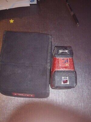 Hilti Pm 2-p 2 Point Laser Level Self-leveling Laser Level Carry Case Batteries