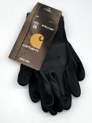 Carhartt Mens All Purpose Micro Nitrile Dipped Glove Single Pack Large Gray