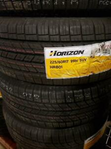 225/60R17 BRAND NEW SET ALL SEASON TIRES HORIZON 225/60/R17 TIRE 225 60 17