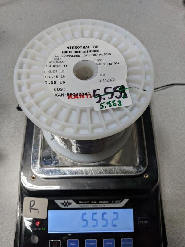 Sandvik Nichrome 80 (Nikrothal) 32g Wire Spool 5.552lb