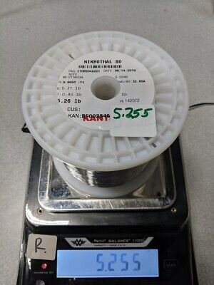 Sandvik Nichrome 80 Nikrothal 32g Wire Spool 5.255lb