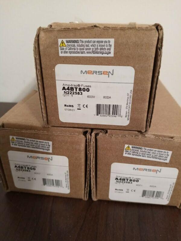 SET OF 3 NEW MERSEN A4BT800 FERRAZ SHAWMUT FUSES 600V 800A