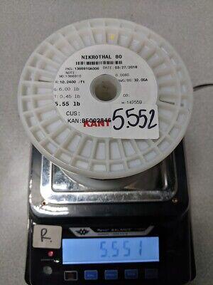 Sandvik Nichrome 80 Nikrothal 32g Wire Spool 5.551lb