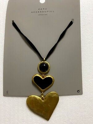 Zara Accessories Collection Heart Golden Necklace 1856/280 - NEW