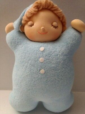 Jiyu Gakuen musical plush baby doll Brahms's Lullaby soft sculpture blue toy htf segunda mano  Embacar hacia Argentina