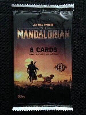 TOPPS STAR WARS THE MANDALORIAN SEASON 1 TRADING CARDS SEALED HOBBY PACK !!