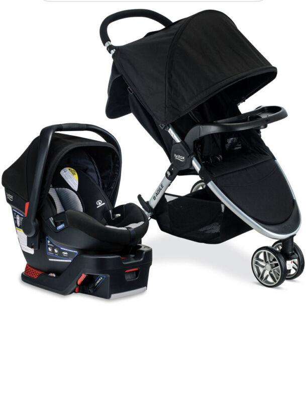 Britax B-Agile 3 & B-Safe 35 Travel System - Dual Comfort Black / Grey