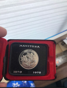 1 dollar Canadien en nickel du Manitoba 1970