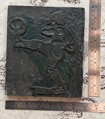 Footballer Rare Letterpress Wooden Printing Block Very Rare Wood Print Type