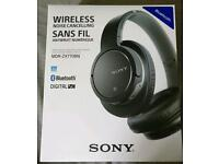 Sony MDR-ZX770BN Noise Cancelling Bluetooth Over-Ear Headphones with Mic/Remote, Black