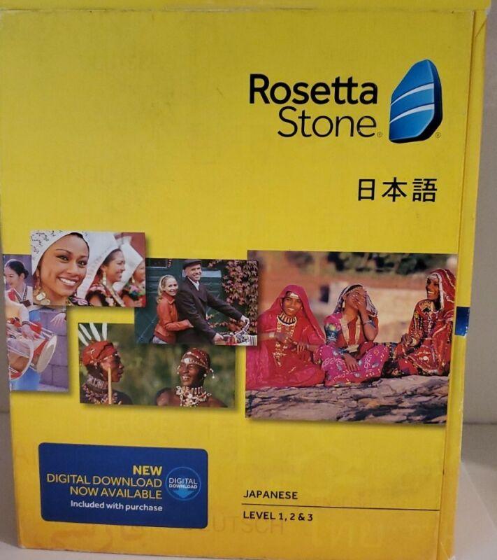 Rosetta Stone Japanese Version 4 Level 1, 2 & 3 New w/ code Windows & Mac *Read*
