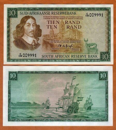 South Africa, 10 Rand, ND (1967-1974), P-114b, aUNC > Sailboat
