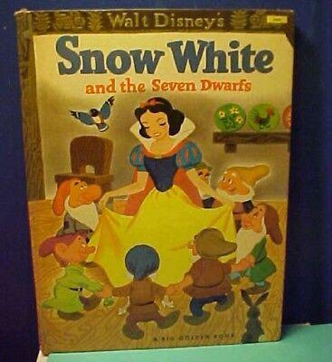 1952 Vintage Big Golden Book Version Disney's Snow White and the Seven Dwarfs