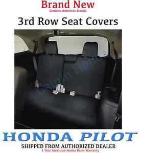 genuine oem honda pilot 3rd third row seat cover 2016. Black Bedroom Furniture Sets. Home Design Ideas