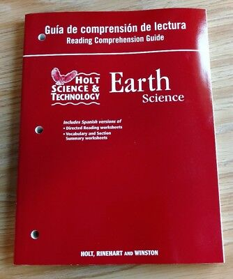 Holt Science & Technology: Reading Comprehension Guide, Spanish Earth Science