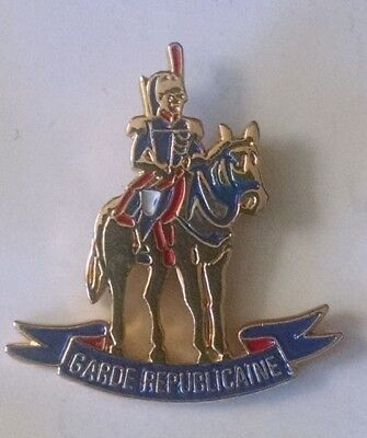 French Republican guard on horse pin