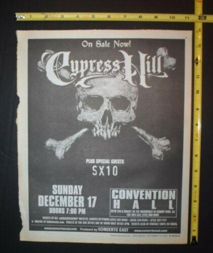 Cypress Hill 2000 Concert Ad Asbury Park NJ SX10