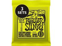 3 Pack / 3 Sets of Ernie Ball Regular Slinky Electric Guitar Strings 10-46