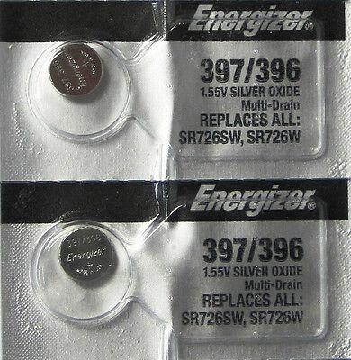 Energizer Electronics - 397 / 396 Energizer Silver Oxide Watch / Electronic Battery x 2