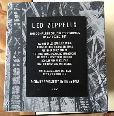 "New Led Zeppelin ""The Complete Studio Recordings"" (Sep-1993,10 CD) Box Set"