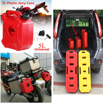 5L/1.3Gallon Handle Fuel Tank Jerry Cans Spare Plastic Petrol Tanks for Car Bike