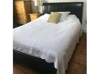 Leather King Size Bed Frame - VGC - FREE to collect
