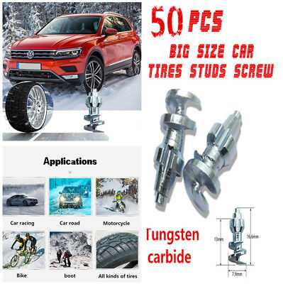 50PCS Big Size Tungsten Carbide Car Tires Studs Screw Ice Snow Spike Snow (Chrysler Town And Country 2012 Tire Size)