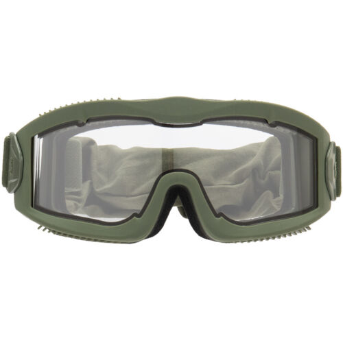 LANCER TACTICAL AIRSOFT ADJUSTABLE VENTED SAFETY GOGGLES Anti Fog OD Green