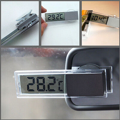Car Interior Removable Transparent Sucker LCD Celsius Digital ℉/℃ thermometer