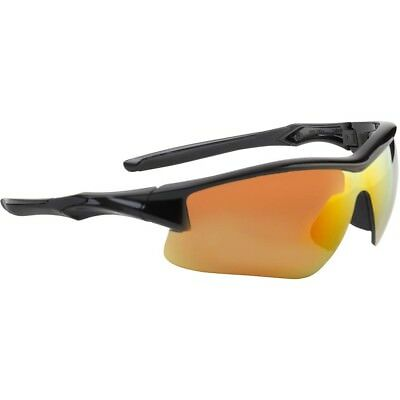 Uvex Acadia Safety Glasses With Red Mirror Lens Black Frame