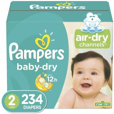Diapers Size 2, 234 Count - Pampers Baby Dry Disposable Baby Diapers, ONE MONTH