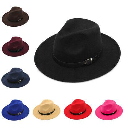 Kids Children Boys Girls Wool Panama Hats Wide Brim Caps Sombrero Fedora Trilby