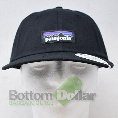 Patagonia P-6 Label Trad Cap Low Crown Black 38207 Adjustable Baseball Cap Hat