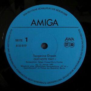 TANGERINE DREAM Quichotte 1981 AMIGA issue, ONE BALK blue lb - <span itemprop=availableAtOrFrom>europe, Polska</span> - Zwroty są przyjmowane - europe, Polska