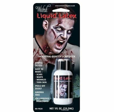 EFFECTS ZOMBIE FLESH SCARS SKIN ADHESIVE HALLOWEEN MAKE-UP (Special Effects Make-up Halloween)