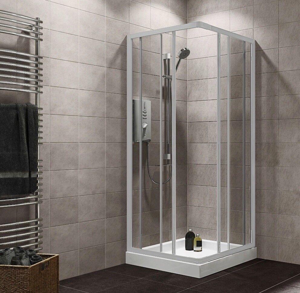 Plumbsure 760-800 x 760-800mm white shower enclosure - Brand new ...